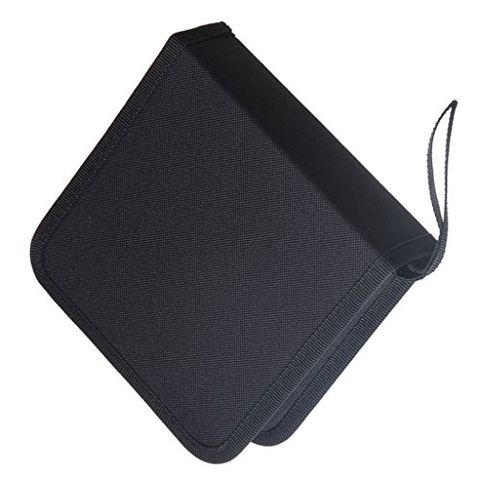 Portable 40 Disc DVD VCD DJ Storage Album Bag Hard Box Storage Case CD Carrying Case with Handle Strap Black