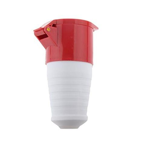5 Pin Coupler Socket 380V 3 Phase 3P+N+E Waterproof IP44 32A Red