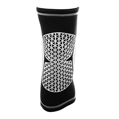 Sports Basketball Soccer Running Cycling Knee Support Protective Gear Soft Sweat Absorbing Sleeve Kneepad Brace -White M
