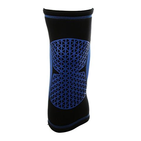 Sports Basketball Soccer Running Cycling Knee Support Protective Gear Soft Sweat Absorbing Sleeve Kneepad Brace -Blue M