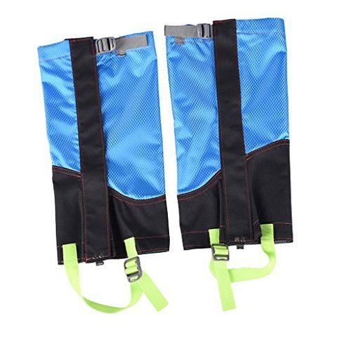 1 Pair Outdoor Hiking Camping Walking Hunting Waterproof Snow Legging Gaiters Shoe Boot Cover - Sky Blue & Black