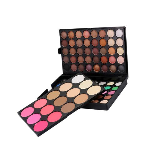 Professional Eyeshadow Foundation Blush Contour Highlighter Makeup Palette Cosmetic Kit Set - Includes 80 Colors matte and shimmer eyeshadows, 6 Colors blushers, 9 Colors foundation creams