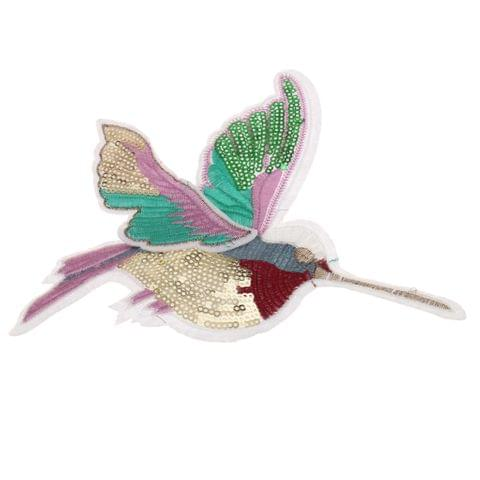 Cute Sequined Bird Patch Applique for Sewing Embroidery Right
