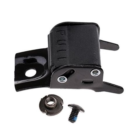 Black Metal Roller Skates Strap Buckle Replacement Clip with Screw and Nut Repair Kit