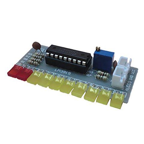 Audio Level Indicator Kit LM3915 DIY Module DC9V-12V 10 Segment Tin-Treated Pads