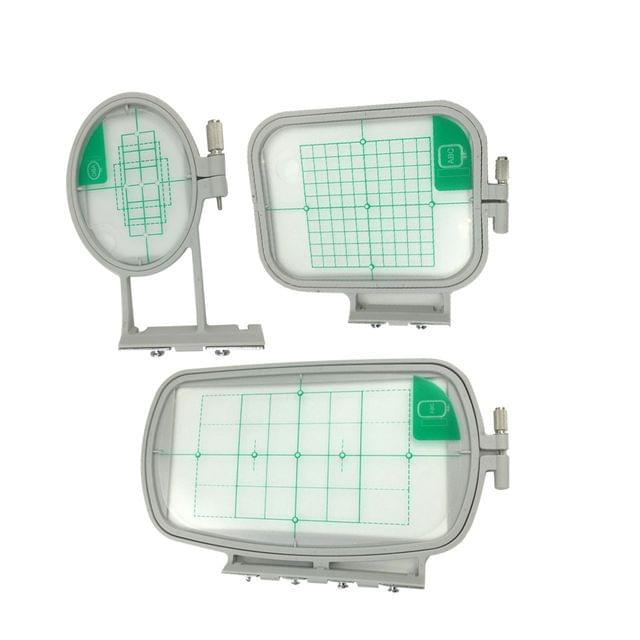 3 Pieces Embroidery Hoop Frame For Brother Embroidery Machine SE270D, SE350, SE400, HE120, HE240