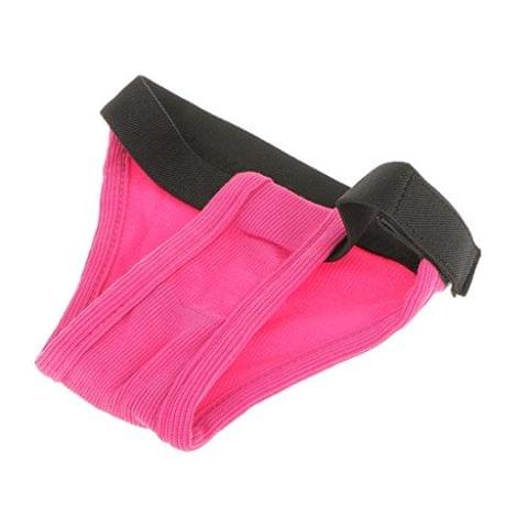 Pet Female Dog Under Clothing Supplies Soft Moisture Breathable Ribbing Classic Physical Pant Sanitary Underwear Rose Red L