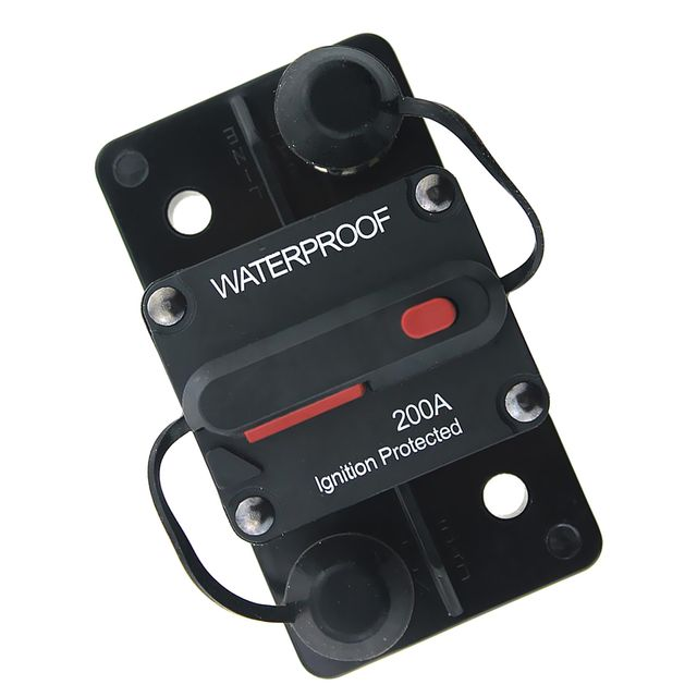 Waterproof 200A DC 48V Surface Mount Manual Reset Type Circuit Breaker