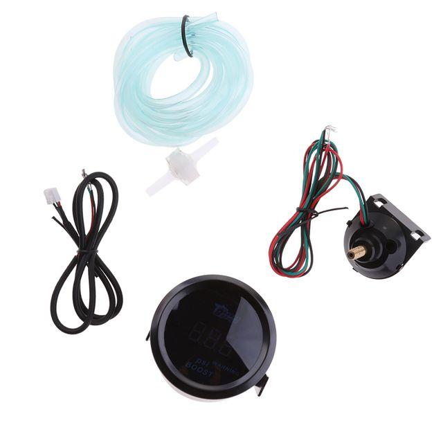 Universal 52mm Car Truck Blue LED Display Turbo Boost Pressure Gauge Meter