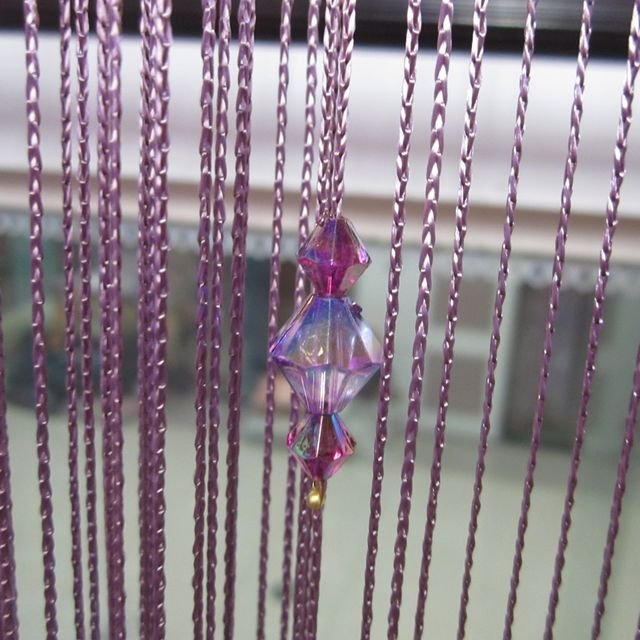 Acrylic Crystal Beads Curtain Window Door Passage Room Divider Home Decor-Purple