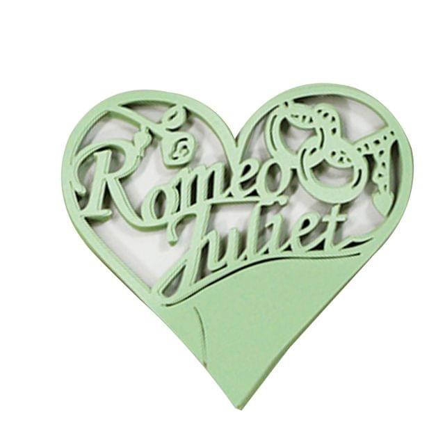 Generic 50PCS Hollow Heart Shape Table Name Place Cards Wedding Christmas Party Decoration Green