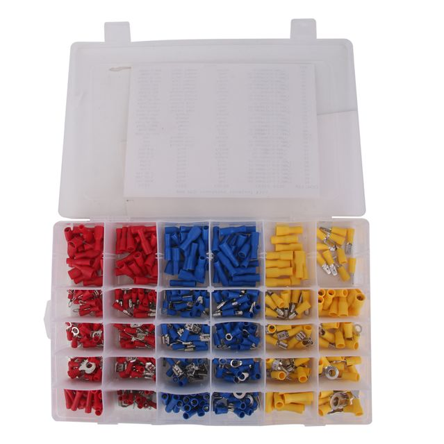 480Pcs Assorted Insulated Electrical Female Spade Wire Connector Terminals