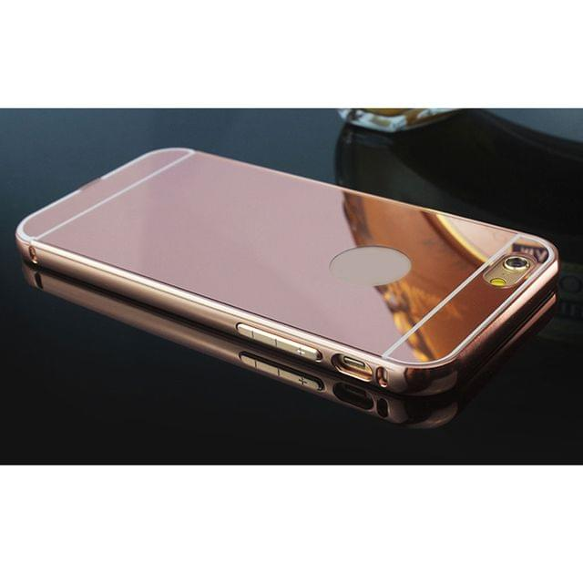 Luxury Ultra-thin Mirror Case Skin for iPhone 6s Plus Rose Gold Color