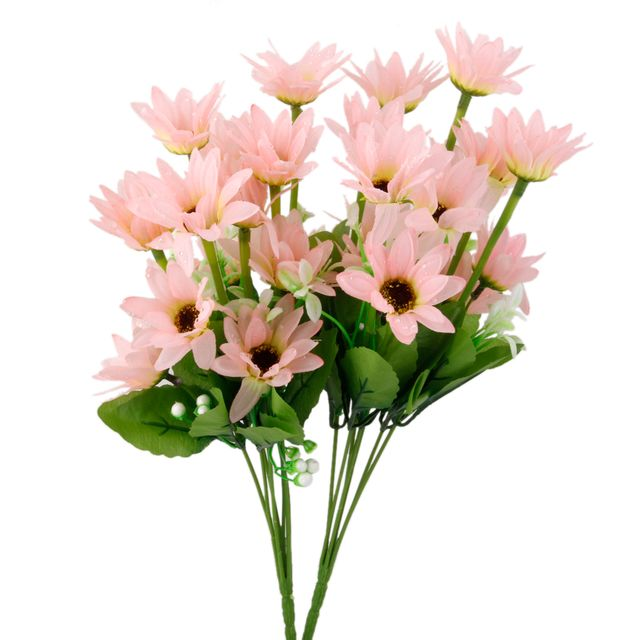 1 Bunch Fake Daisy Artificial Flower Plant Bouquet Home Office Decor - Pink