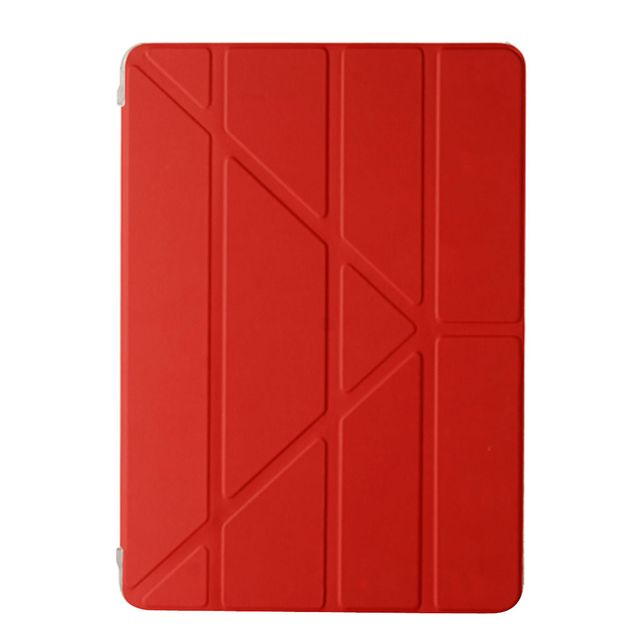 Fashoin Ultra Slim Red Leather Smart Cover Auto Wake/Sleep Magnetic Stand Case for iPad Pro 9.7 inch