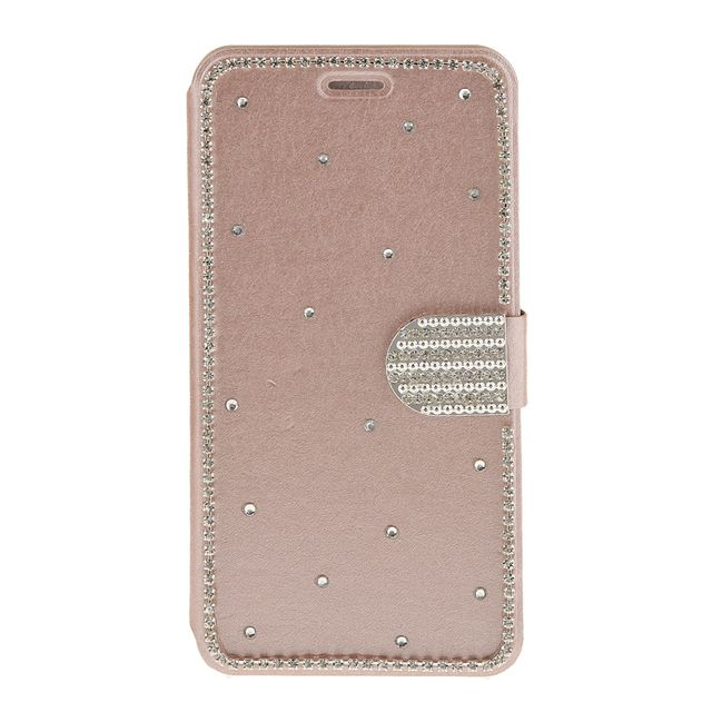 Portable Stylish Synthetic Leather Flip Wallet Case Cover COMPATIBLE FOR IPhone 6 6s Rose Gold