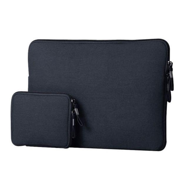 Laptop Notebook Carry Bag Sleeve Case Cover for 12'' Macbook Mac Air Pro Retina Dark Blue Set of 2