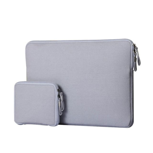 "Laptop Notebook Carry Bag Sleeve Case Cover for 15"" Macbook Mac Air Pro Retina Grey Set of 2"