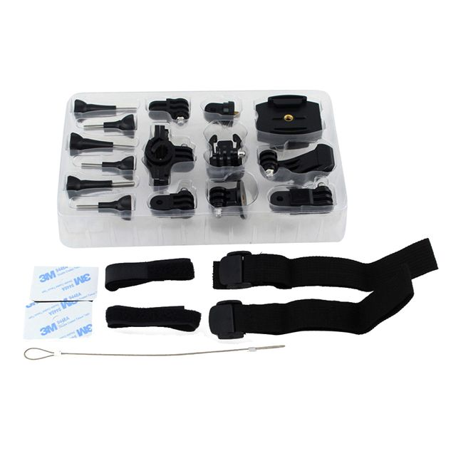 Motion Sports DV Action Camera Accessory 25in1 Kit for SJ4000 5000 6000