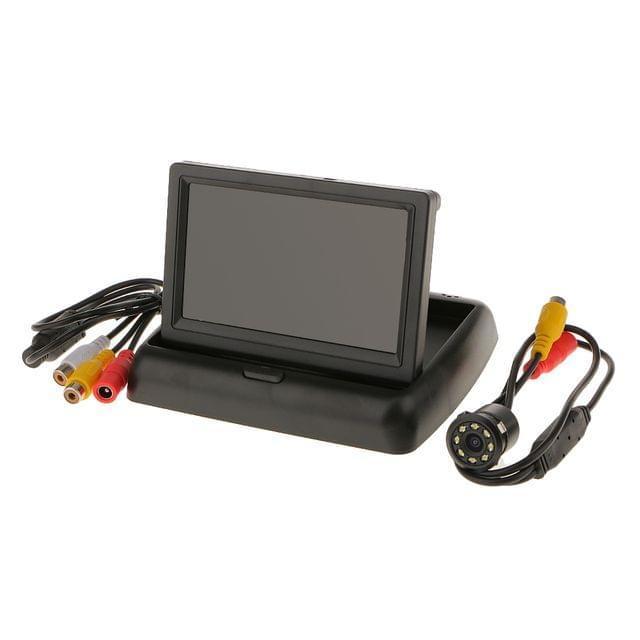 Foldable 4.3'' Color LCD TFT Rear View 170 Degree Rotating Monitor Screen for Car Vehicle Backup Camera