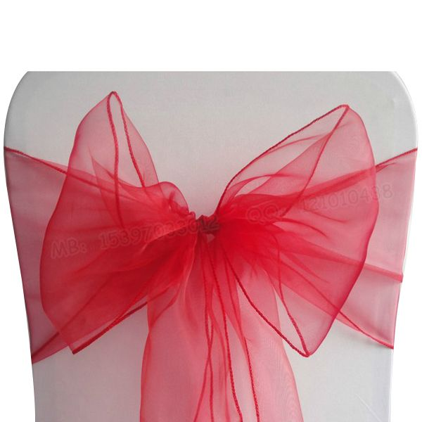 Sweet Cute Organza Chair Cover Bow Sashes Ribbons Wedding Party Birthday Banquet Decor Rosy