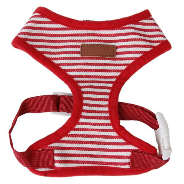 Soft Breathable Mesh High Strength D-Ring Puppy Harness Safety Equipment Pet Supplies Red + White L