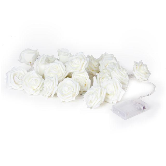 20-LED 86.6inch Battery Operated Christmas Rose Flower Shape String Lamp