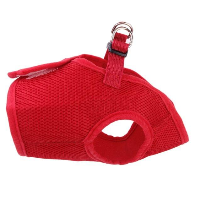 Soft Mesh Breathable High Strength D-Ring Dog Harness Safety Equipment Pet Supplies Red S