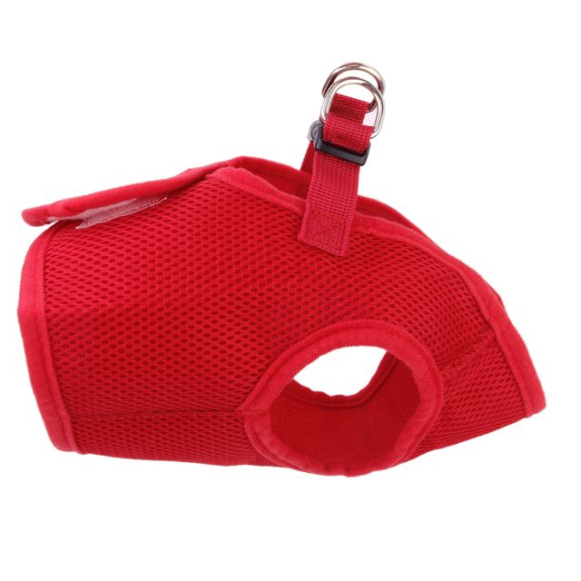 Soft Mesh Breathable High Strength D-Ring Dog Harness Safety Equipment Pet Supplies Red M