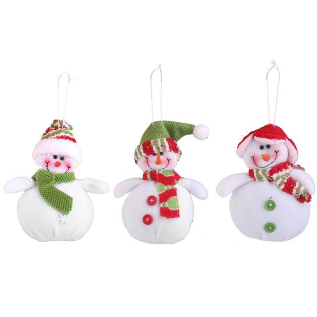 Pack of 3pcs Snowmen Christmas Tree Xmas Party Hanging Ornament Decoration Gift DIY