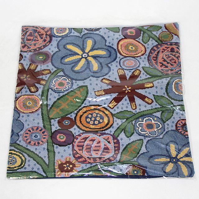 Cotton Linen Blend Beautiful Flower Print Pillow Cushion Cover Home Office Living Room Bedroom Decor 44 x 44cm