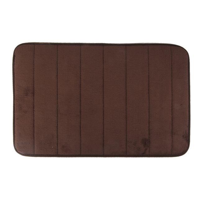 Rectangular Shaped Fluffy Non-Slip Mat Bathroom Bedroom Living Room Doorway Balcony Decor Brown
