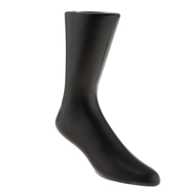 Men Foot Mannequin for Displaying Shoes Socks Kneelet Self Standing Black
