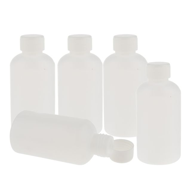 Pack Of 5 250ml Plastic Wide Mouth Lab Reagent Bottle Sample Sealling Bottle