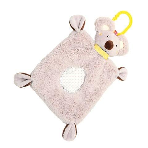 Personalised Embroidered Baby Comforter Security Blanket Koala Gift Newborn