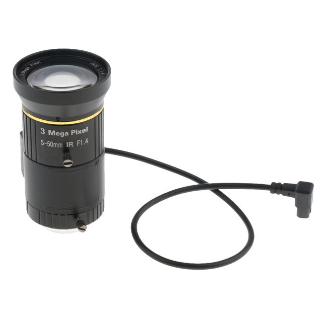 2/3'' F1.4 IR Zoom 5-55mm CCTV Camera Lens CS Mount for Industrial Microscope Metal Optical Glass