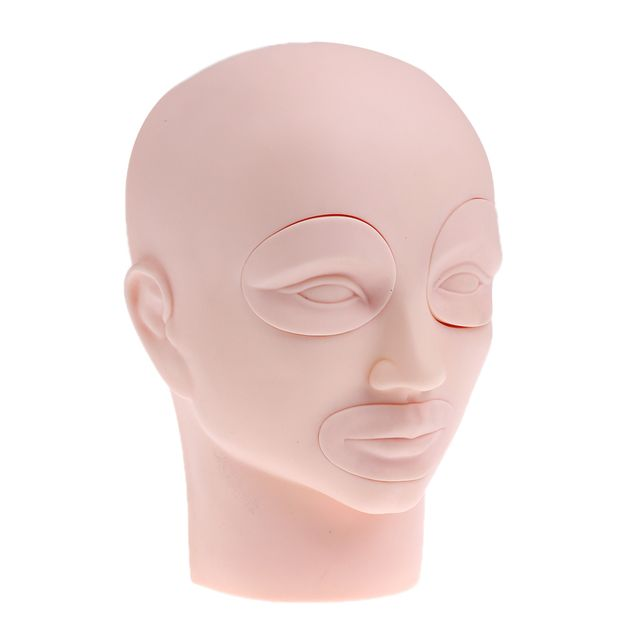 8-Inch Detachable Cosmetology Training Head Cosmetology Mannequin Head For Eyelashes Makeup Practice