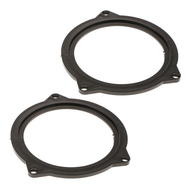 4.5Inch Plastic Car Speaker Spacer Adapter Mount Bracket Ring for BMW 3 Series ,BMW 5 Series (Pack 2)