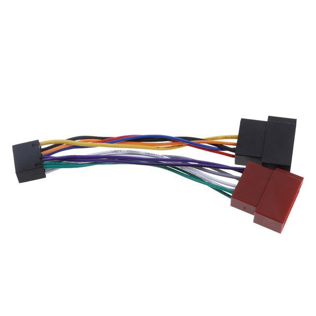 16 Pin ISO Wiring Harness Adaptor Car Stereo Radio Loom For Kenwood / JVC