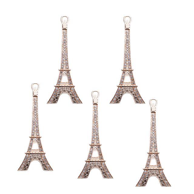 10 Pieces Crystal Tower Embellishments Flatback Scrapbook Craft DIY Decor