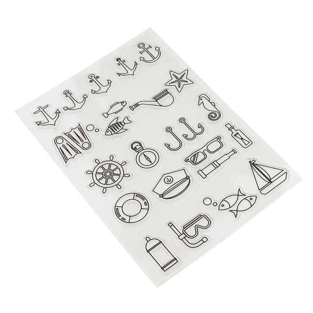 Silicone Clear Stamp Navigation Theme Transparent Seal DIY Diary Scrapbooking Album Note