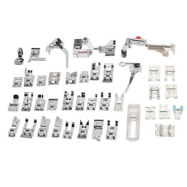 42 Pieces Domestic Sewing Machine Presser Feet Set Kit