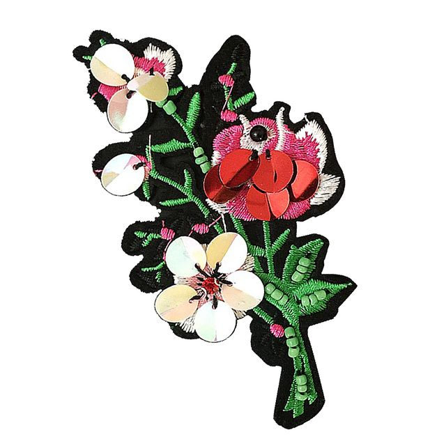 DIY Embroidered Small Flower Patch For Cloth Sewing Appliques Embellishment
