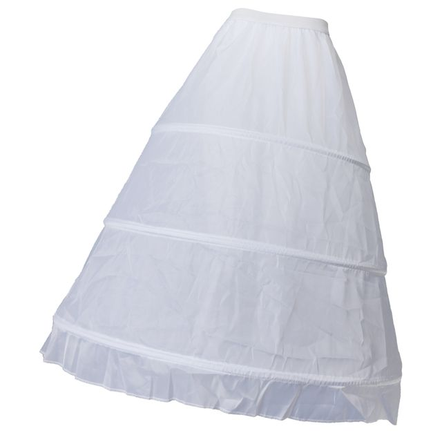 1 Layer 3 Hoop Lady Girl Petticoat Underskirt Wedding Bridal Slips Crinoline