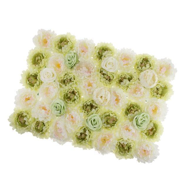Romantic Artificial Rose Flower Wall Panels Wedding Venue Background Decor