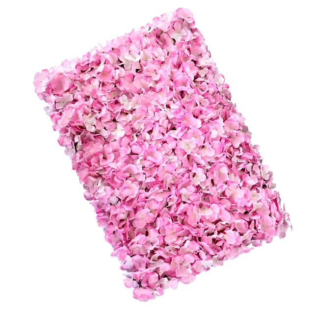 Artificial Flower Wall Panels Wedding Venue Decor Photography Backdrops Pink