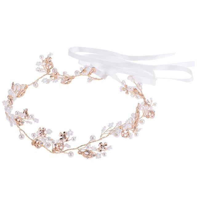 Diamante Rhinestone Pearl Headband Wedding Bridal Tiara HairBand HeadPiece Gift