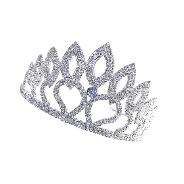 Shiny Crystal Rhinestone Crown Princess Queen Tiara Wedding Bridal Jewelry