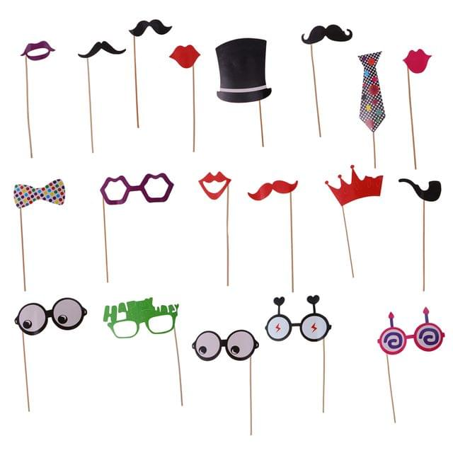 20 Pieces Birthday Photo Booth Props Wedding Party Mask Photobooth Props Dress Up Accessories