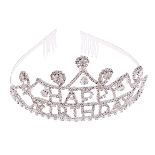 Rhinestone Alloy Tiara Crown Birthday Party Pageant Lady Girls Princess Hair Jewelry Birthday Present
